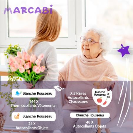 Autocollants personnalisables pour seniors.